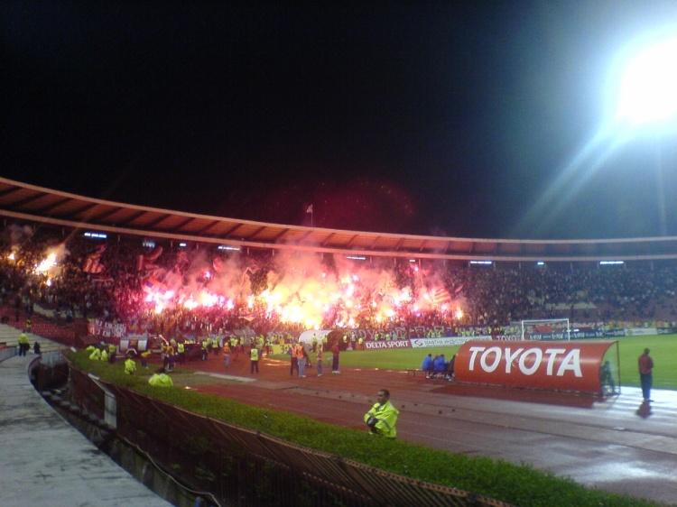 Foto Verslag;Rode Ster Belgrado-Liverpool F.C.